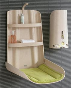 Wall Mounted Baby Changing Table & Diaper Dispenser by BO Design