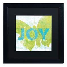 'Letterpress Joy' by Sue Schlabach Framed Graphic Art