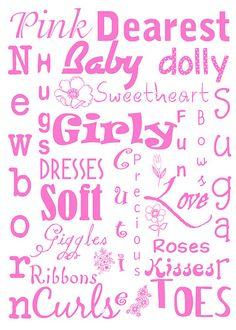 Baby girl subway art