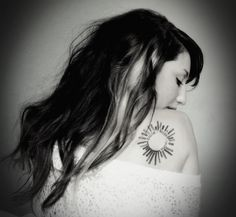 """even through the toughest of times, the best way to get by is to """"smile. laugh. shine.""""  #tattoos #tattoo #sunshine"""