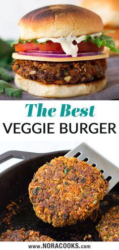 Vegetable Burger Recipe, Veg Burgers Recipe, Homemade Vegan Burgers, Vegan Veggie Burger, Healthy Burger Recipes, Vegan Black Bean Burgers, Best Vegan Burger Recipe, Veggie Bbq, Veggie Burgers
