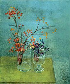 Morris Graves -ft Flower Vases, Flower Art, Flowers In Vase Painting, Creative Inspiration, Life Inspiration, Still Life Flowers, Still Life Art, Contemporary Paintings, Cool Artwork