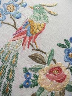 ART DECO FLORAL BIRDS