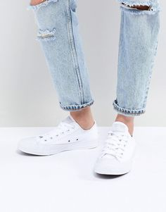 9ab26007c6c2 Converse Chuck Taylor All Star ox white monochrome sneakers