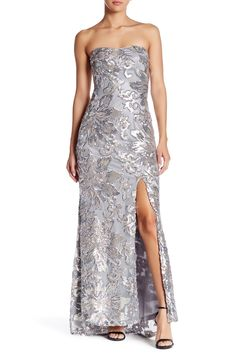 Strapless Sequined Gown by Marina on @nordstrom_rack