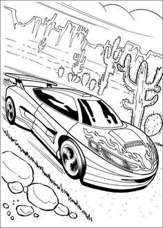 Hot Wheels Fargelegging for barn. Tegninger for utskrift og fargelegging nº 11