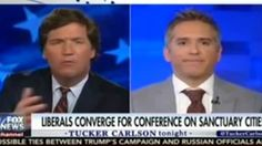 Tucker Carlson falls apart as guest confronts him with university study on sanctuary cities.  This is why most Republicans do not want to he confused with facts    Tucker Carlson's reaction to his guest's factual assertions about sanctuary cities is a clear example why his audience remains in their sealed echo chamber which prevents them from holding their elected officials accountable.   ...