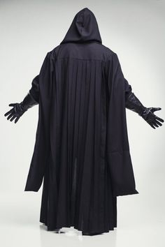 F0 Star Wars Emperor Palpatine Darth Sidious Robe Cosplay Costume Black Cloak