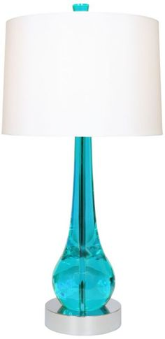 Van Teal Charming Turquoise and Chrome 33-Inch-H Table Lamp - #EU2H480 - Euro Style Lighting