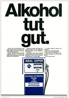 Original-Werbung/ Anzeige 1969 - ARAL / ALKOHOL TUT GUT - ca. 180 x 240 mm