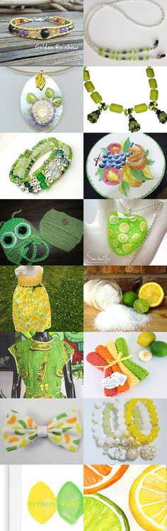 Lemon Lime by Clemmie Sheffield on Etsy--Pinned+with+TreasuryPin.com