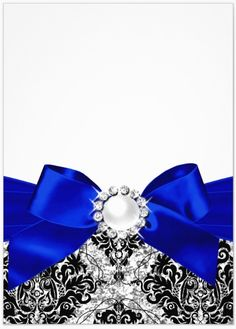 blk damask - royal satin bow with a diamond pearl center bow - uploaded bu Lynn White