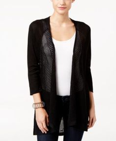 Style & Co. High-Low Lightweight Cardigan, Only at Macy's