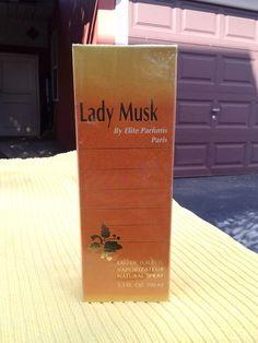 lady musk elite parfums Paris Eau de Toilette Spray 3.3 Fl. Oz NEW IN SEALED BOX #elite