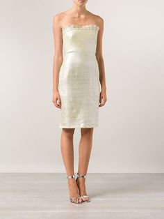 Gianni Versace Vintage Strapless Dress - Amarcord Vintage Fashion - Farfetch.com