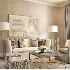 Transitional Formal Living Room Love The Grasscloth Pattern Mix And Rest Hard Floor Lamps