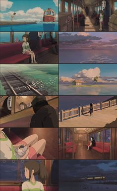 Studio Ghibli Poster, Studio Ghibli Art, Studio Ghibli Movies, Hayao Miyazaki, Tales From Earthsea, Chihiro Y Haku, Grave Of The Fireflies, Color Script, Otaku
