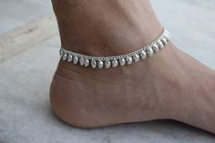 Silver Anklet Anklet Foot chain Indian Anklet Ankle by avicraft
