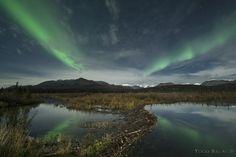 Converging Auroras Taken by Todd Salat on September 19, 2016 @ Alaska Range