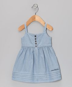 Look what I found on #zulily! Chambray Button Dress - Infant, Toddler & Girls by Calvin Klein Jeans #zulilyfinds