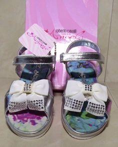 #ROBERTO #CAVALLI New $140 #Girls #Baby #Kids #Sandals Flat Strap Flip Shoes Size 26EU #RobertoCavalli #Sandals