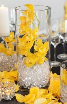 Yellow wedding centerpiece ideas