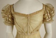 Dress. British, ca. 1820, silk. The Met, NY.