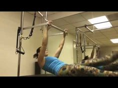 Pilates Abdominal Sequence on the Cadillac - YouTube