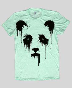 Vanishing Panda  American Apparel Womens t shirt by EngramClothing, $23.00