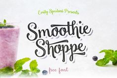 Smoothie Shoppe Free Typeface is a bold, yet sweet, modern version of Emily Spadoni's favorite retro display fonts Font Design, Web Design, Graphic Design, Design Ideas, Typography Design, Fontes Script, Police Script, Free Typeface, Best Free Fonts