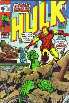 "Incredible Hulk vol. 1 #131, ""A Titan Stalks the Tenements!"" (September, 1970). Cover by Herb Trimpe."