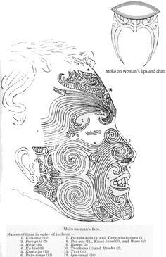 Maori tattoo- explanation of each tribe