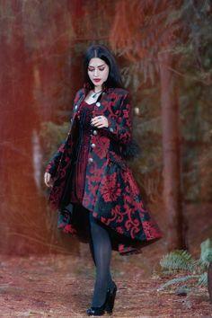 """Mahafsoun via Facebook """"Blood Red"""" Model/Makeup/Styling/Editor: Mahafsoun Photographer: Luminoso Outfit: Shrine of Hollywood"""
