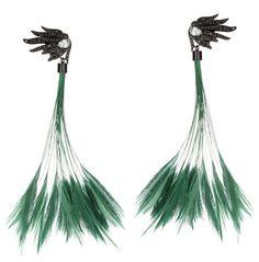 Boucles d oreilles plumes ete bijoux de plage Wilfredo Rosado