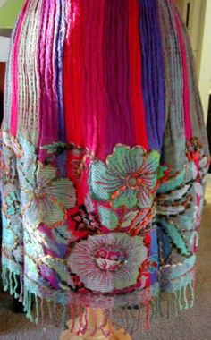 "Roja's Folk Art ""HUIPIL"" Skirt with Embroidery Stitching 1 Sm./2 Med. left!!"