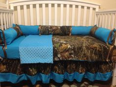 Items similar to nursery set crib set made with mossy oak camo fabric & free monograms and diaper bag on Etsy Baby Boy Rooms, Baby Boy Nurseries, Baby Cribs, Baby Room, Camo Crib Bedding, Crib Bedding Sets, Baby Boy Camo, Camo Baby Stuff, Girl Camo