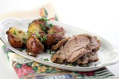 Too many people tend to stay away from lamb because of its strong taste. I think that's a mistake. If marinated properly, lamb is so flavorful, Shoulder Of Lamb Recipes, Lamb Shoulder, Passover Recipes, Passover Meal, Green Papaya, Food Is Fuel, Roast, Good Food, Dinner Recipes