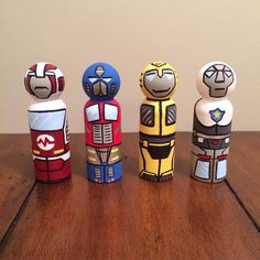 Transformers set of 4 peg dolls by ClarasCreations2011 on Etsy