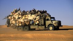 Africa | Common Transport, Region Faya, northern Chad | © Jacques Taberlet