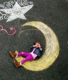 On-site prompt- performance chalk drawing/photography  Student Work Art Teacher Joy Schultz