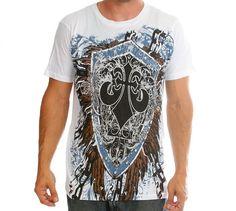 WHITE LION GRAPHIC PRINT MEN'S TEE SHIRT SHORT SLEEVE XXL 2X 2XL #Unbranded #GraphicTee