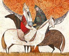 New Indian Modern Art Paintings 23 Ideas Oriental, Islamic Art Calligraphy, Calligraphy Alphabet, Celtic Art, Celtic Dragon, Illustration Art Drawing, Iranian Art, Turkish Art, Modern Art Paintings
