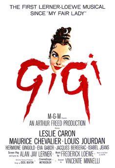 Gigi  Leslie Caron  Home Theater Media Room Decor  Movie