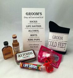 Fabulous Groom S Day Of Survival Kit Card By Coldfeetsocks