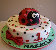 ladybug cake...so in love with this one!