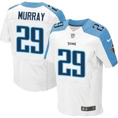 32aa1b7aa1b Nike Titans #29 DeMarco Murray White Men's Stitched NFL Elite Jersey And  #nfl jersey