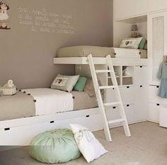 Resultado de imagem para quarto infantil menina decorado duas camas