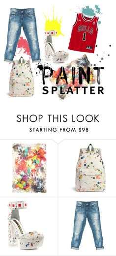 """""""Untitled #97"""" by eleni-placebo ❤ liked on Polyvore featuring Franco Ferrari, Kat Maconie, Sans Souci and paintsplatter"""