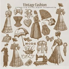 Far Far Hill - Free database of digital illustrations and papers: New Freebies Kit of Vintage Style Papers
