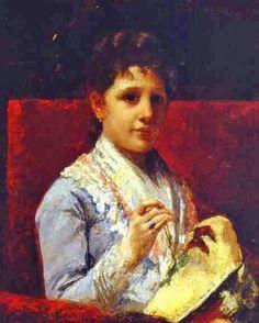Mary Cassatt painting of Miss Ellison